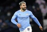 """P.Guardiola pripažino, jog """"Man City"""" trūksta S.Aguero pagalbos"""
