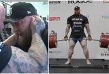 Beprotiška: H.Bjornssonas atkėlė 501 kg štangą ir pasiekė įspūdingą pasaulio rekordą!