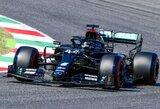 """Istorinėje kvalifikacijoje """"Ferrari"""" priklausančioje trasoje – L.Hamiltono triumfas"""