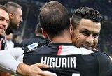 """Italijos lyderių dvikovoje – neįskaitytas C.Ronaldo įvartis ir """"Juventus"""" pergalė prieš """"Inter"""""""