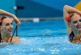 Rusijos duetas iškovojo pergalę olimpinėse sinchroninio plaukimo varžybose