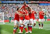 FIFA atsisako atskleisti, ar atliko nors vieną dopingo testą pergalingai žaidžiančiai Rusijos rinktinei