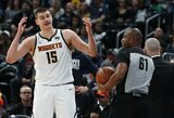 """N.Jokičiaus vedama """"Nuggets"""" dominavo prieš """"Clippers"""""""