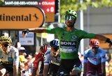 """Sprinterių įskaitos titulą ginantis P.Saganas laimėjo penktąjį """"Tour de France"""" etapą"""