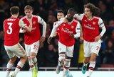 """Fantastišką dublį pelnęs N.Pepe išplėšė """"Arsenal"""" pergalę prieš grupės autsaiderius, G.Arlauskio atstovaujamas klubas įveikė """"Rennes"""""""
