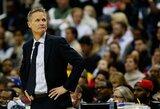 """""""Warriors"""" krepšininkai atmetė S.Kerro pasiūlymą pailsėti"""