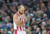 """""""Olympiacos"""" skelbia karą: nežais su """"Panathinaikos"""" be teisėjų iš užsienio ir neįsileis """"Panathinaikos"""" savininko į areną"""