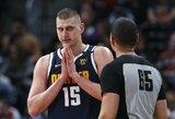 NBA žvaigždės N.Jokičiaus koronaviruso testas buvoteigiamas