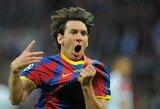 """D.Berbatovas prisiminė akistatas su L.Messi: """"Aikštėje atrodo, kad jis šaiposi iš varžovų"""""""