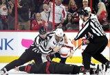 C.McGregoras pasveikino A.Ovečkiną NHL rungtynėse vykusiose muštynėse nokautavus varžovą