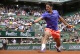 """Šveicarų teniso dievaitis į prestižinio """"Roland Garros"""" turnyro ketvirtfinalį prasiskynė jau 10-ą kartą"""