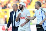 M.Sarri atskleidė, kaip G.Higuainas jaučiasi po rungtynių pabaigoje patirtos galvos traumos