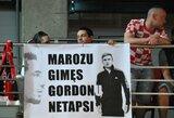 """""""Lietuvos ryto"""" aistruolių plakatas Ž.Skučui: """"Marozu gimęs Gordonu netapsi"""""""