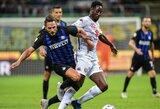 """""""Inter"""" iššvaistė dviejų įvarčių persvarą ir rungtynes baigė lygiosiomis, """"Fiorentina"""" namuose pažemino """"Chievo"""" klubą"""