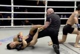 """Pamatykite: """"ONE FC"""" ringe per 55sekundes įspūdingai nokautuotas kovotojas teisėjui pradėjo atlikinėti kojos laužimą"""