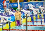 Puikiai startavusi Lietuvos plaukimo rinktinė Universiadoje liko septinta