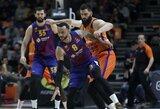 """16 taškų deficitą panaikinusi """"Barcelona"""" paskutinėmis sekundėmis palaužė """"Valencia"""" krepšininkus"""