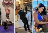 Sporto žvaigždžių karantinas: S.Biles parodė kaip stovint ant rankų nusimauti kelnes, 9 mėnesį nėščia A.Morgan neapleidžia treniruočių