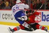 "NHL lyderių dvikovoje - sunki ""Blackhawks"" pergalė"