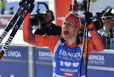 Pasaulio biatlono čempionate – ruso pagalbos sulaukusio 35-erių metų amerikiečio stebuklas