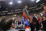 """""""Jazz"""" suspendavo dar vieną R.Westbrooką įžeidinėjusį sirgalių"""