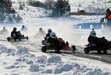 Žiemos sezoną kartingo lenktynininkai pabaigė šalčiausiomis metų lenktynėmis