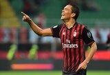 """C.Bacca neįmušė baudinio, bet du jo įvarčiai atnešė pergalę """"Milan"""" klubui"""