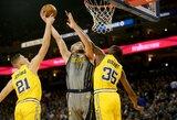 NBA čempionų tvirtovėje – blankus D.Sabonis ir sutriuškinimas