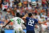 Pasaulio čempionate – kovingos Japonijos ir Senegalo lygiosios