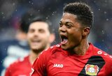 """Vokietijos """"Bundesliga"""": """"Bayer"""" iškovojo lengvą pergalę, """"Leipzig"""" rungtynių pabaigoje palūžo"""