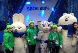 Sočio olimpiniame kaimelyje pakelta Lietuvos vėliava