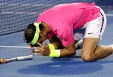 R.Nadalis ilgiau nei keturias valandas grūmėsi su antrojo šimtuko žaidėju (+ kiti rezultatai)