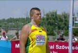 Rutulio stūmikas D.Čepys kukliai pradėjo jaunimo olimpiadą