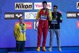 Skandalas pasaulio čempionate: olimpinis čempionas apdovanojimų metu atsisakė stovėti šalia kino