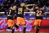 """Pergalę iškovoję """"Valencia"""" vėl pakilo į trečią vietą Ispanijoje"""