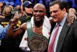 """F.Mayweatherio atstovai juokiasi iš C.McGregoro: """"Iš gatvės į ringą atėjęs Floydas sudaužė MMA žvaigždę"""""""