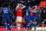 """Pirmosios pergalės M.Artetai teks palaukti: """"Chelsea"""" rungtynių pabaigoje palaužė """"Arsenal"""""""