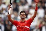 """Viskas pagal prognozes: """"Roland Garros"""" pusfinalyje – keturi geriausi planetos tenisininkai"""