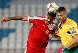 EURO2020 atranka: vaikiškai gynyboje klydę lietuviai patyrė skaudų pralaimėjimą Serbijoje