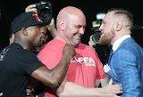 F.Mayweatheris ir UFC prezidentas ruošia dar vieną renginį: legendinis boksininkas žada sugrįžti!