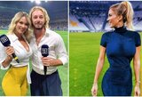 """Į nuogų nuotraukų skandalą patekusi garsi Italijos futbolo žurnalistė: """"Jei nesidomite futbolu, tiesiog žiūrėkite į mane"""""""