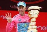 """V.Nibali susigrąžino prestižinių """"Giro d'Italia"""" lenktynių čempiono titulą"""