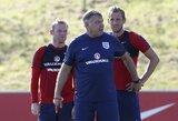 S.Allardyce'as paskelbė Anglijos startinę sudėtį dvi dienos prieš rungtynes