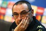 """M.Sarri: """"Tampame paprasta komanda, kai rungtyniaujame be aistros"""""""