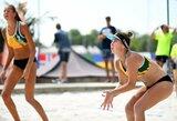 Lietuvos paplūdimio tinklininkai – per žingsnį nuo Europos jaunimo čempionato atkrintamųjų varžybų