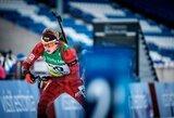 Pasaulio jaunių biatlono čempionato estafetėje M.Fominas džiugino puikiu startu