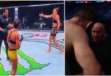 """""""UFC 257"""": du kartus nokautuota A.Ribas ir neįprastas M.Muradovo prašymas D.White'ui"""