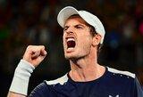 A.Murray'us po ilgos pertraukos žais finale, 18-metį talentą sustabdė S.Wawrinka