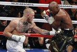 """F.Mayweatherio kalbos M.Tysono neįtikino: """"Conoras yra laimėtojas, nes atlaikė 10 raundų"""""""