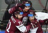 Latvių žygdarbiai pasaulio čempionate tęsiasi: atimtas taškas ir iš Kanados rinktinės